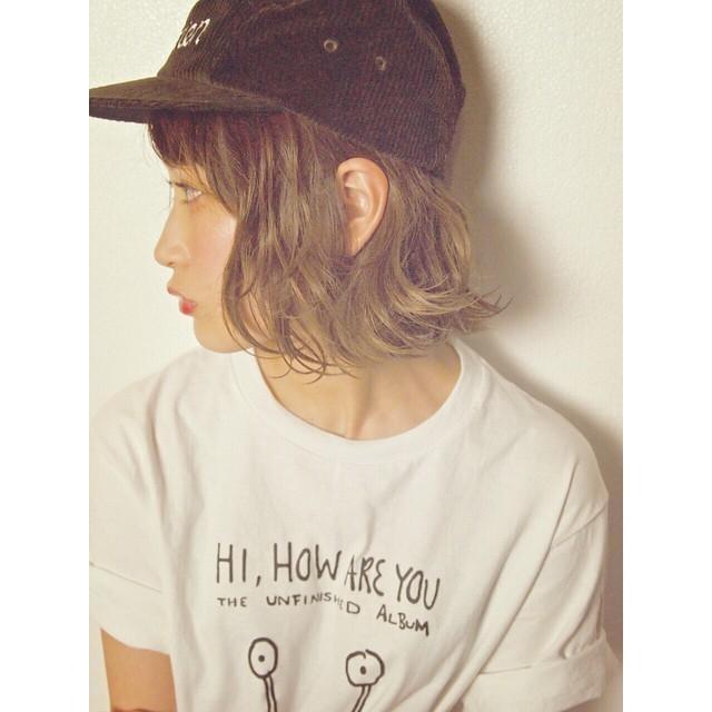 ショートヘア×キャップ