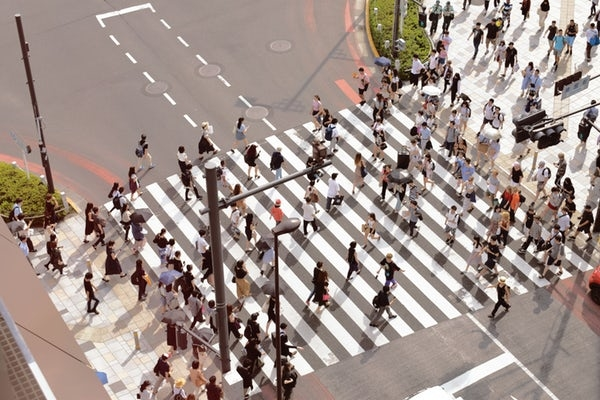 人通りが多くないところ