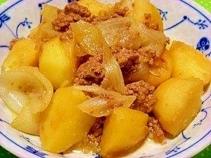 炊飯器で☆ジャガイモと挽肉のカレー風味煮
