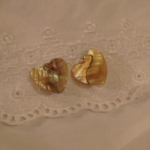 Heart Shell Earrings