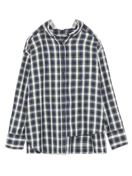 アシンメトリーチェックシャツ