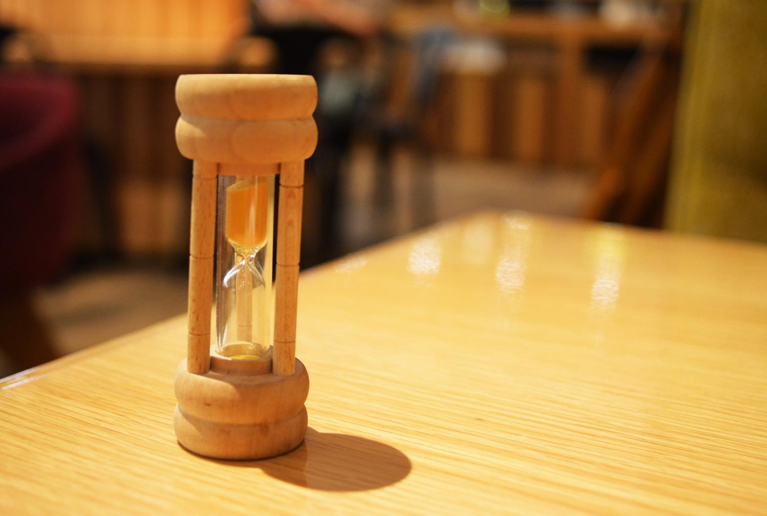 砂時計のような限りある時間を意識して