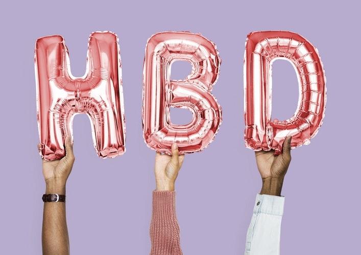 * 誕生日を登録する