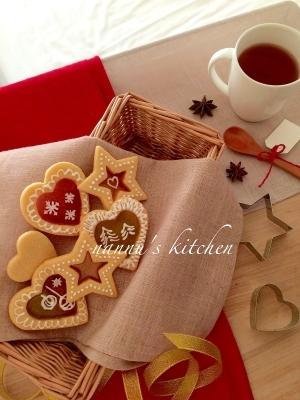 クリスマスに♪可愛いステンドグラスクッキー