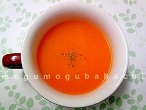 人参とオレンジジュースのポタージュ