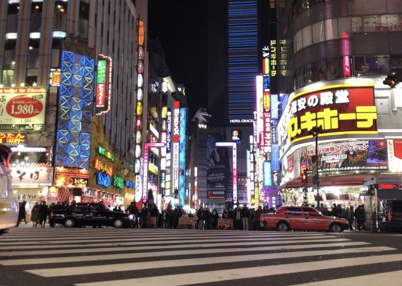 新宿の歌舞伎町