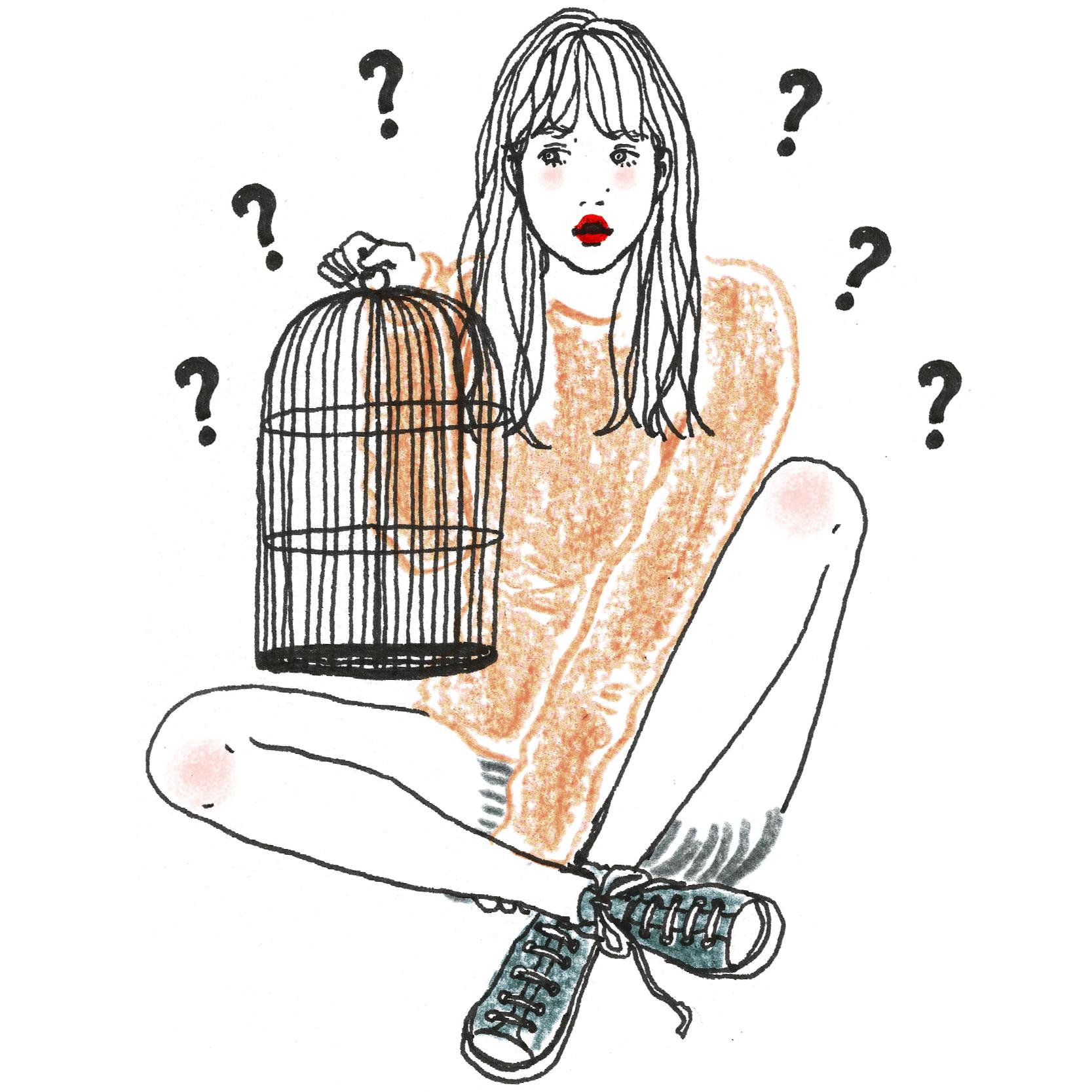 Q:あなたの手に鳥がとまっています。どの鳥ですか?