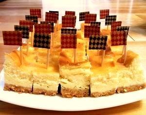 みんなで食べる☆ひとくちベイクドチーズケーキ