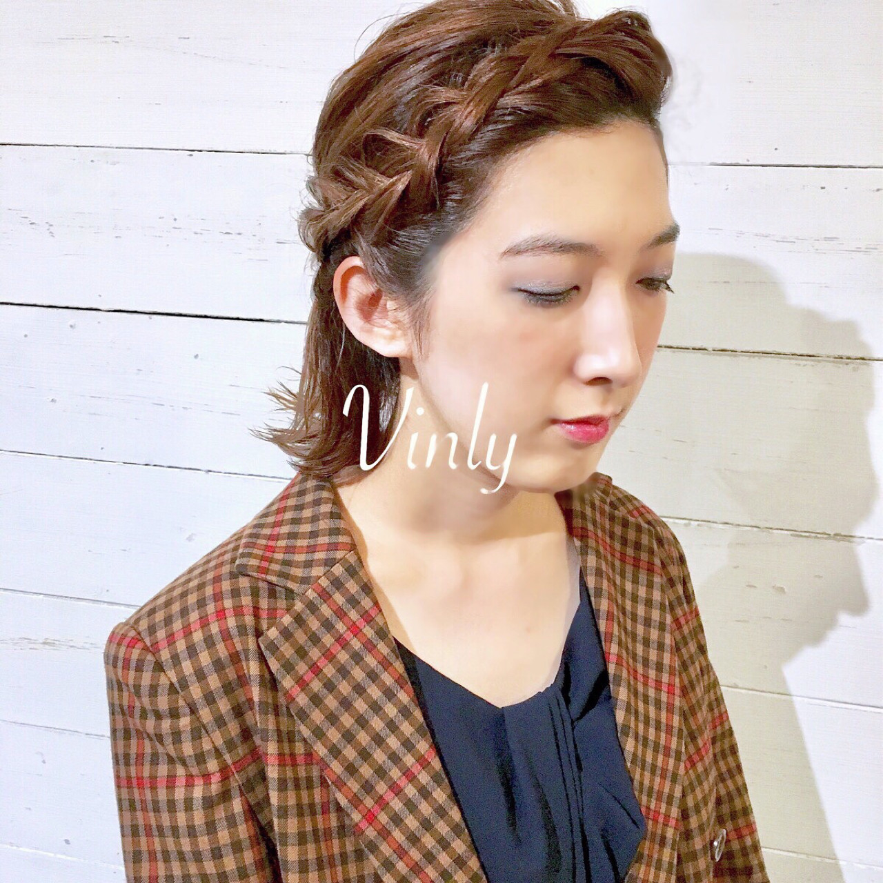 前髪編み込み