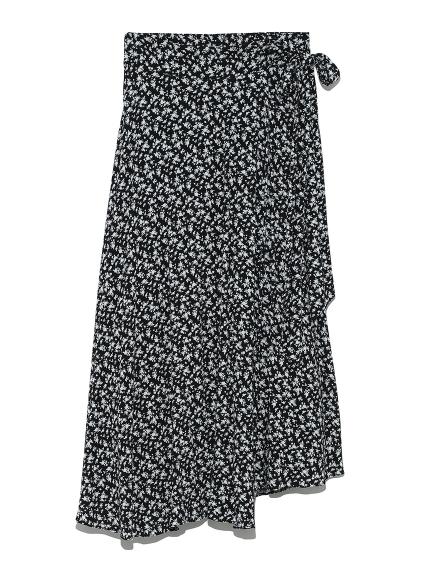 ラウンドヘム巻きスカート