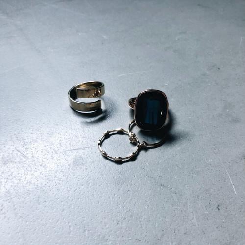 SET RING || AMECHAN (BLUE) & UZUMAKI RINGS|| GOLD || 4RINGS || FRSG213