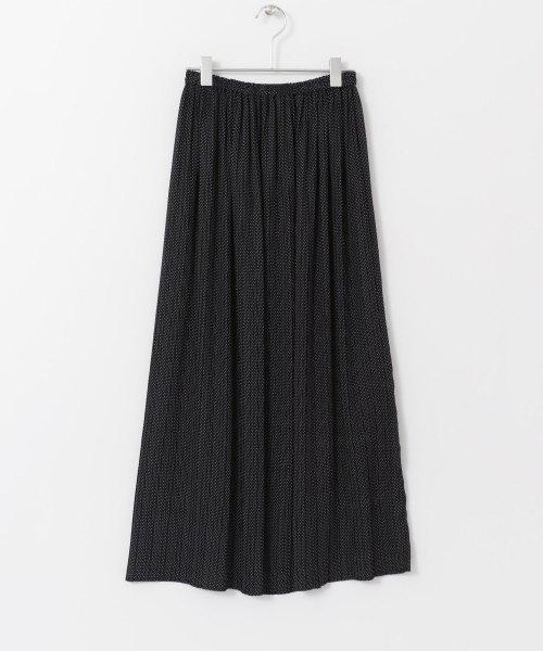 ミニドットプリーツスカート