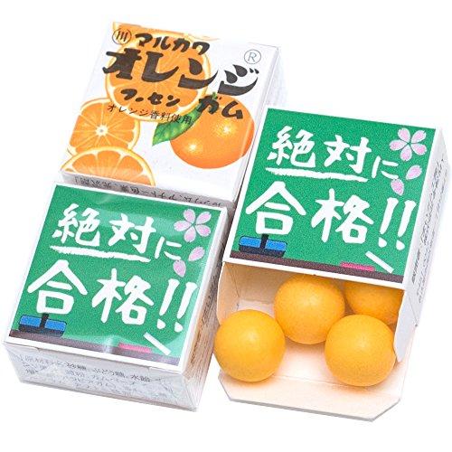 『 絶対合格 』 マルカワガム 24個入 (オレンジ)