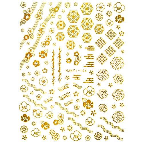 金和花 ネイルシール