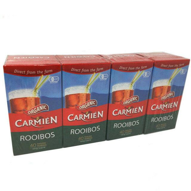 CARMIEN オーガニック ルイボスティー ティーバッグ 40袋入×4箱 160パック