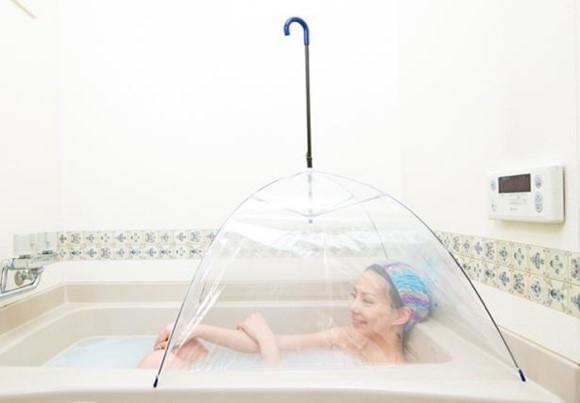 自宅のお風呂が、サウナに様変わり!?差すだけ簡単『お風呂 de サウナ傘』新発売