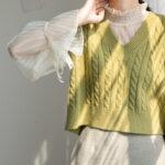 韓国女子、ニットベスト上級者説。まんま真似して即お洒落な3つの重ね着テンプレ