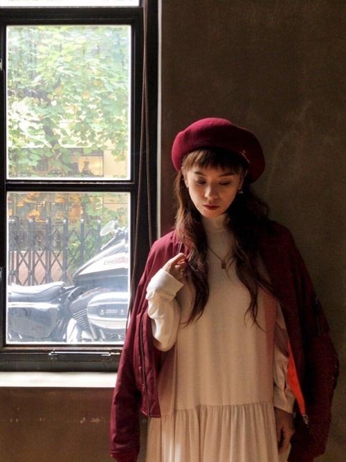 03:ベレー帽で可愛らしさを足して