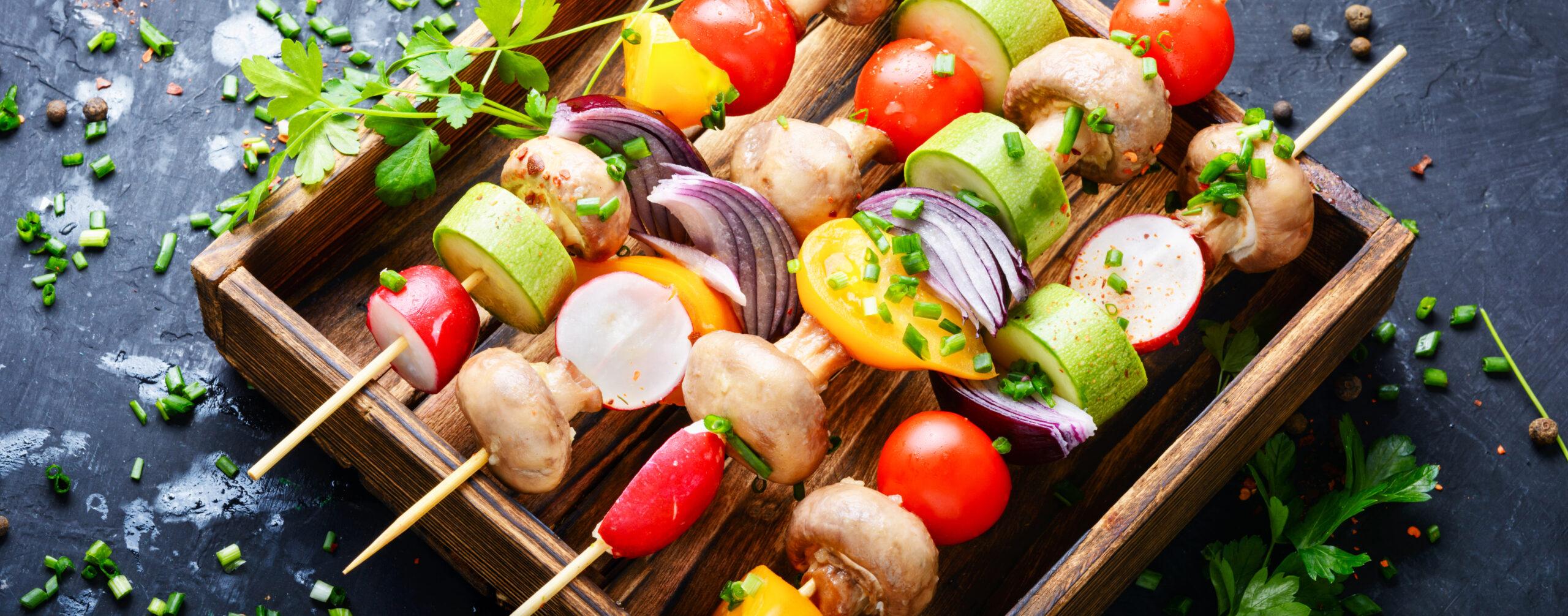 きのこ類や野菜をたくさん食べて