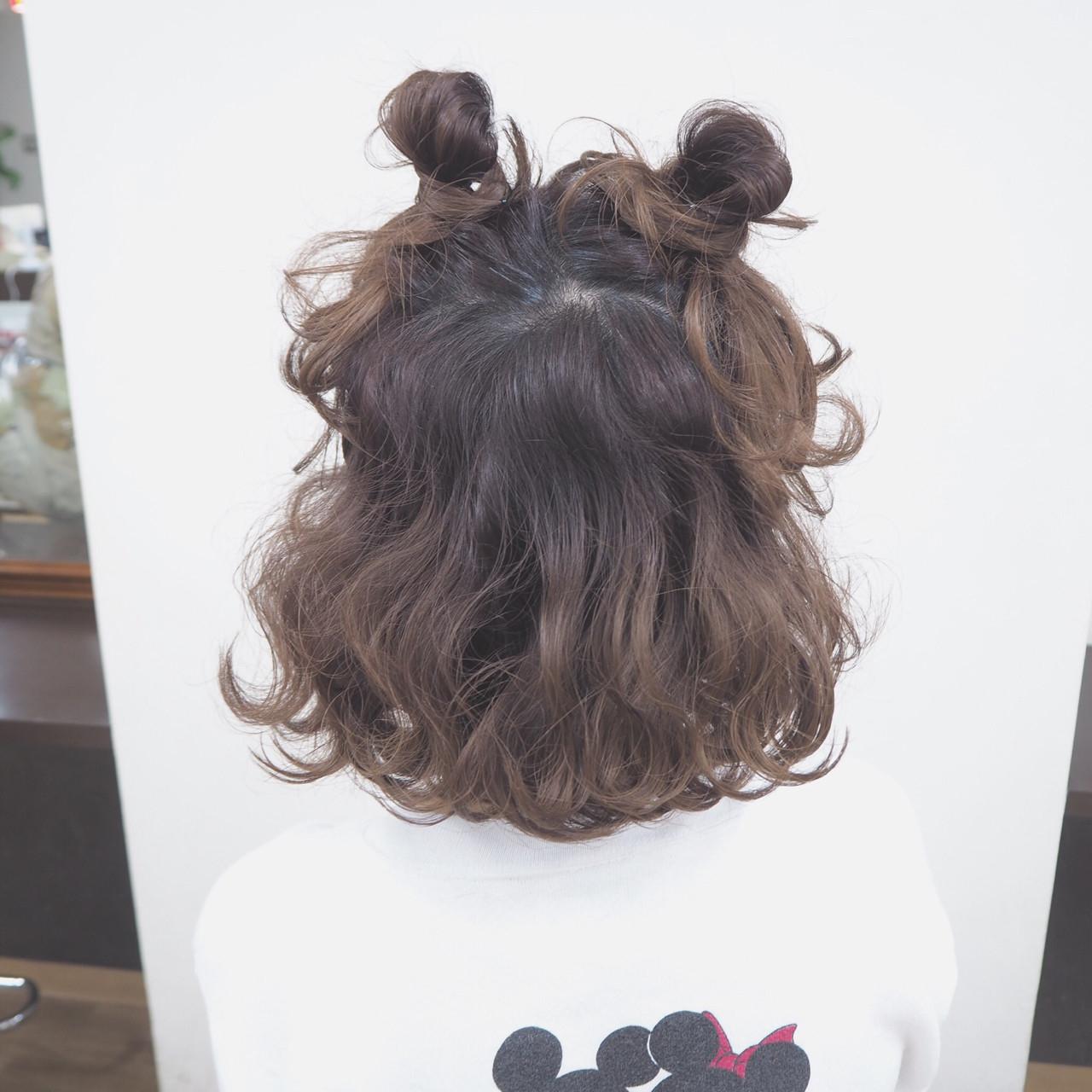 08|ツインお団子×ハーフアップ