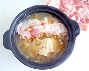 酸菜白肉鍋 白菜と豚ばら肉の台湾美人鍋