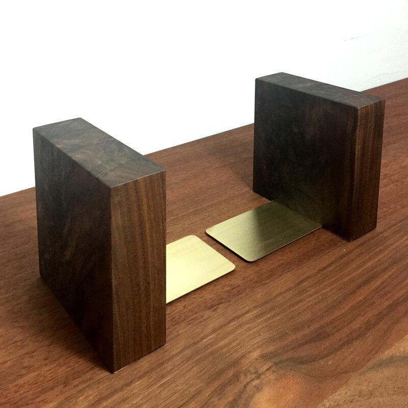木製 ブックエンド