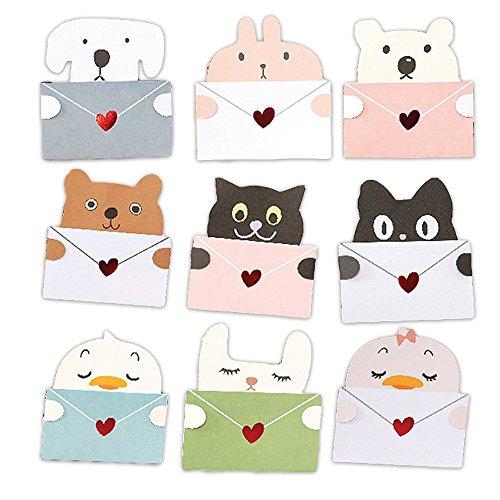 メッセージ カード 動物 アニマル 9種セット