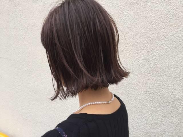 [ショート]外ハネで切りっぱなしスタイル