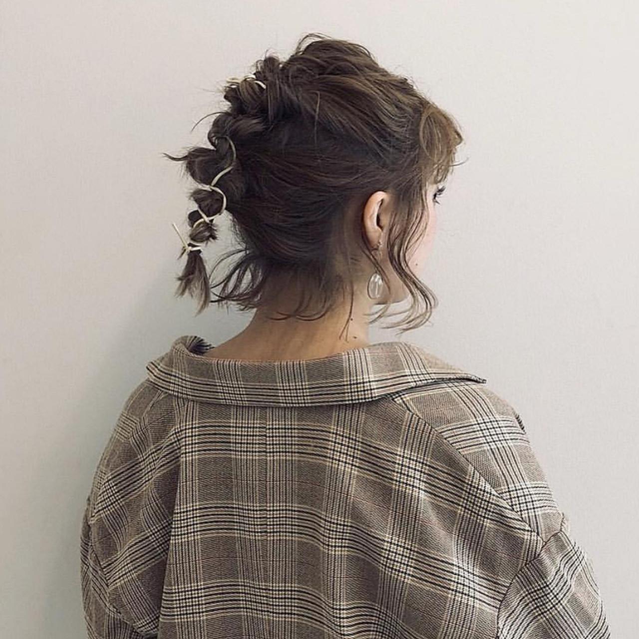 入りきらなかった髪の毛はあえて残して