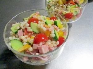 もち麦のサラダ(冷凍もち麦使用)