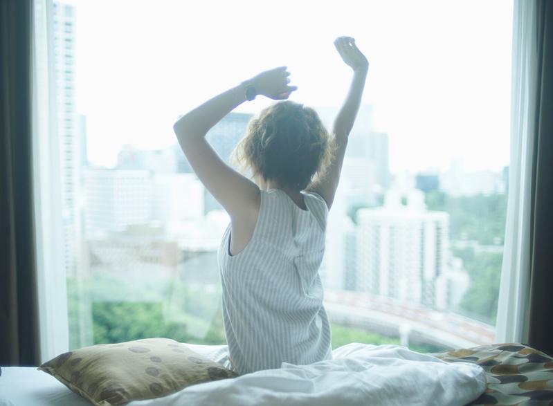 (♡)ストレッチで目を覚ます