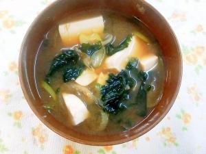 定番の味噌汁♪豆腐とわかめ