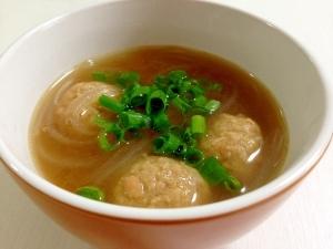 ボリューム満点☆肉団子とマロニーの中華スープ
