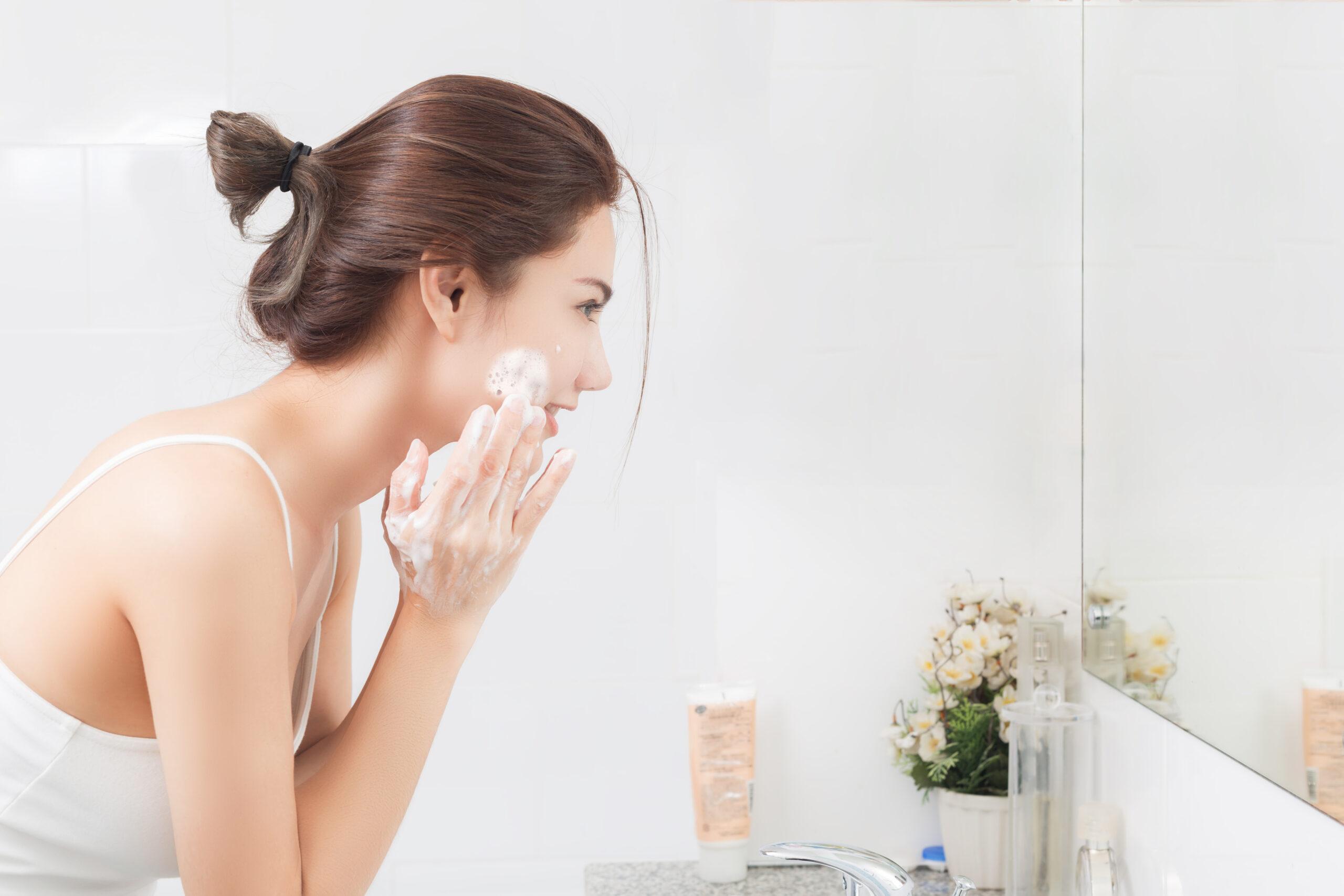 2:通常の洗顔をする