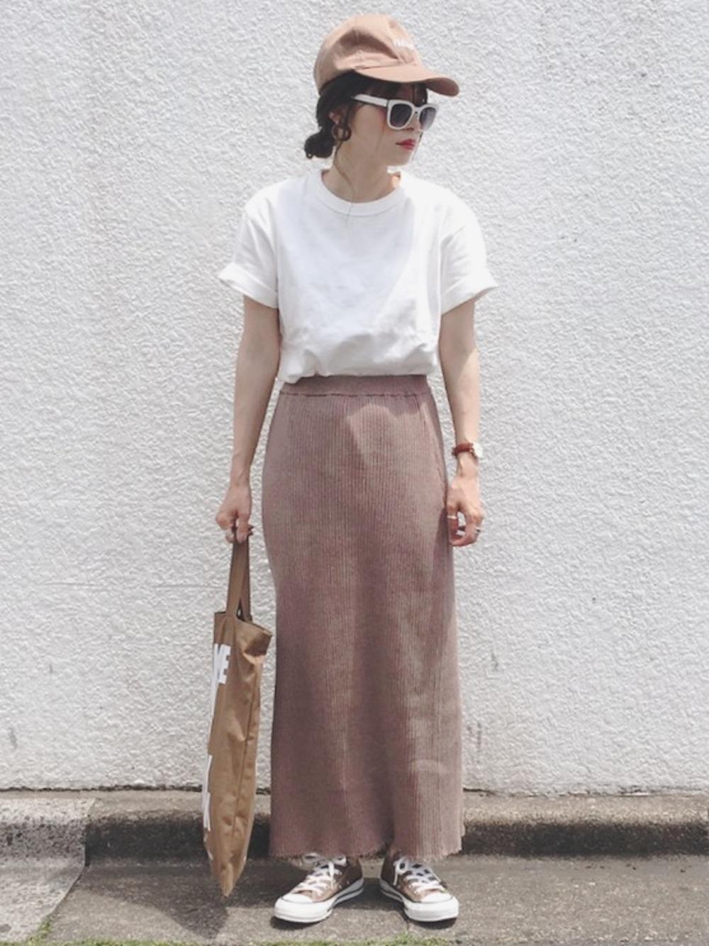 ブラウンスカートは万能アイテムです