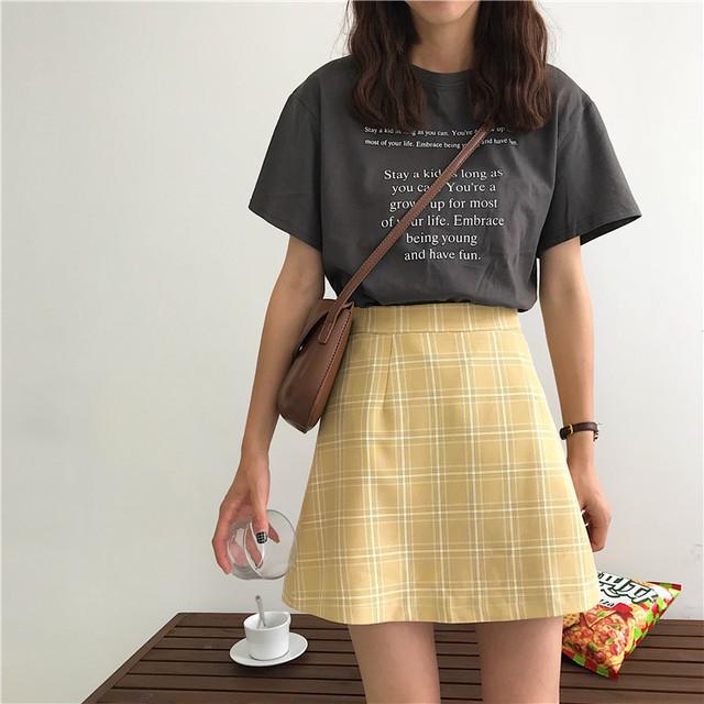 イエロースカートを着まわしたいんです
