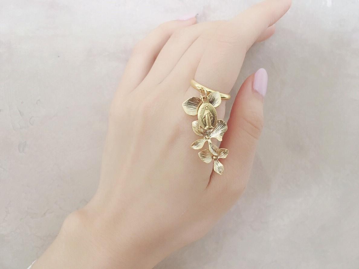 Paris flower ring