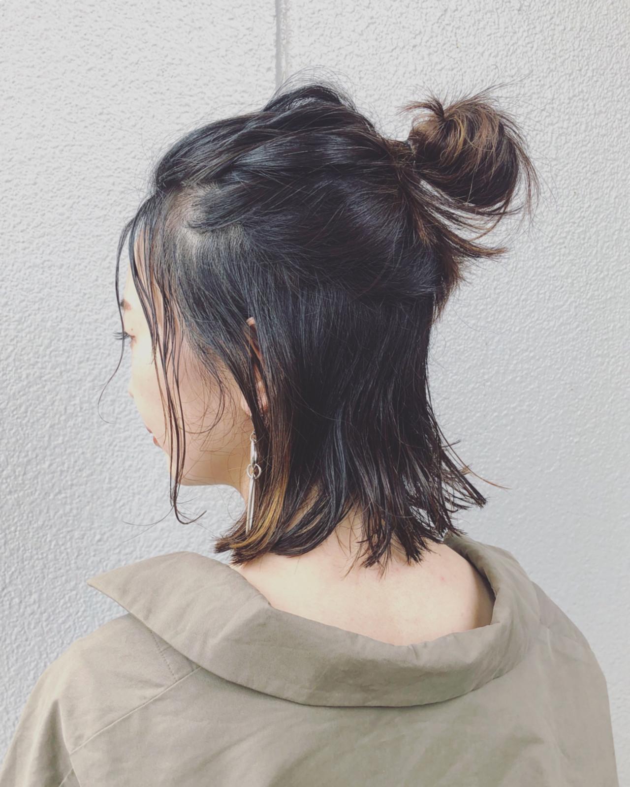 05_ハーフアップお団子