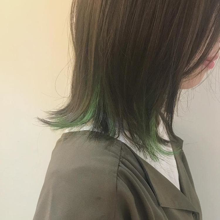 毛先から見える大人っぽい緑