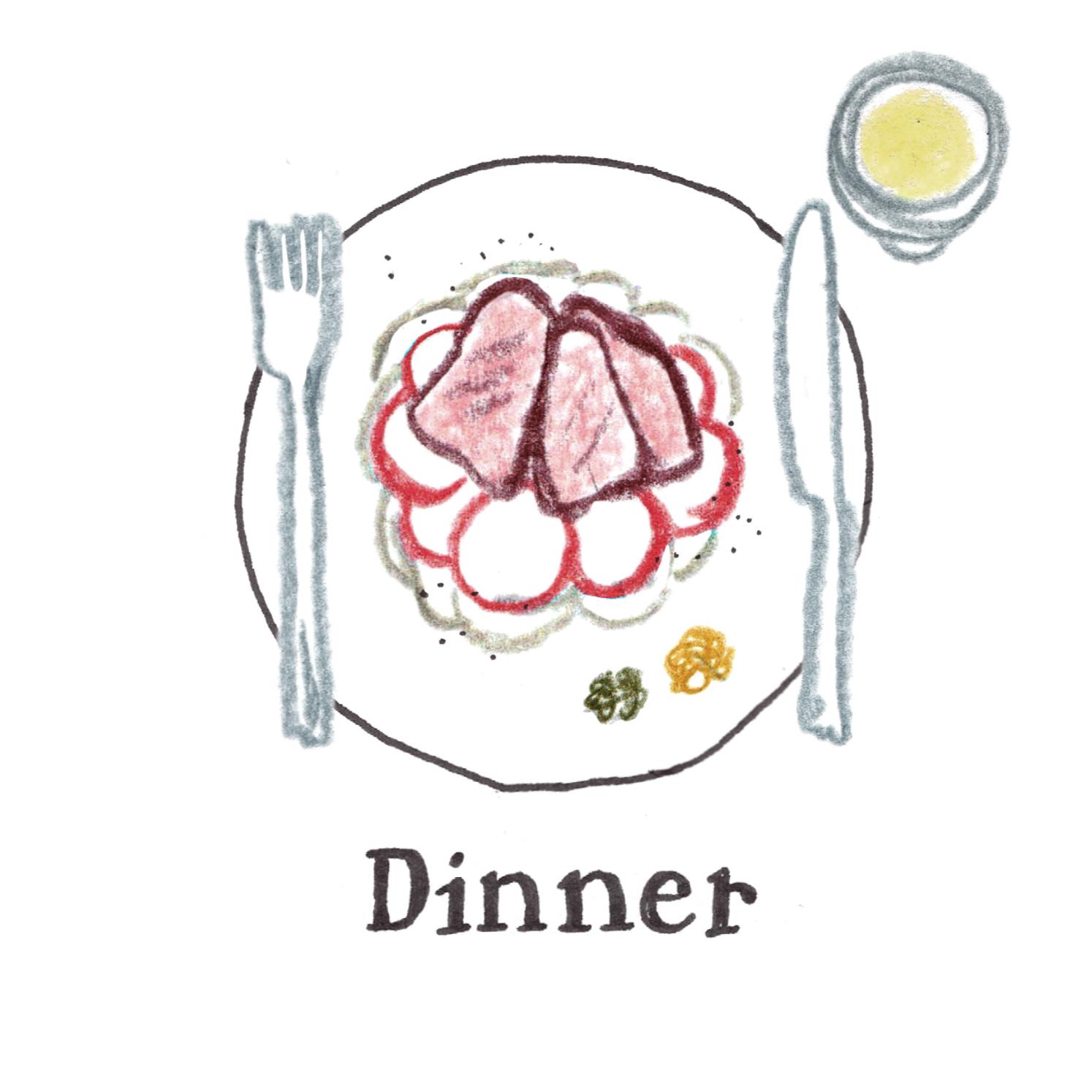 B:三つ星レストランディナー
