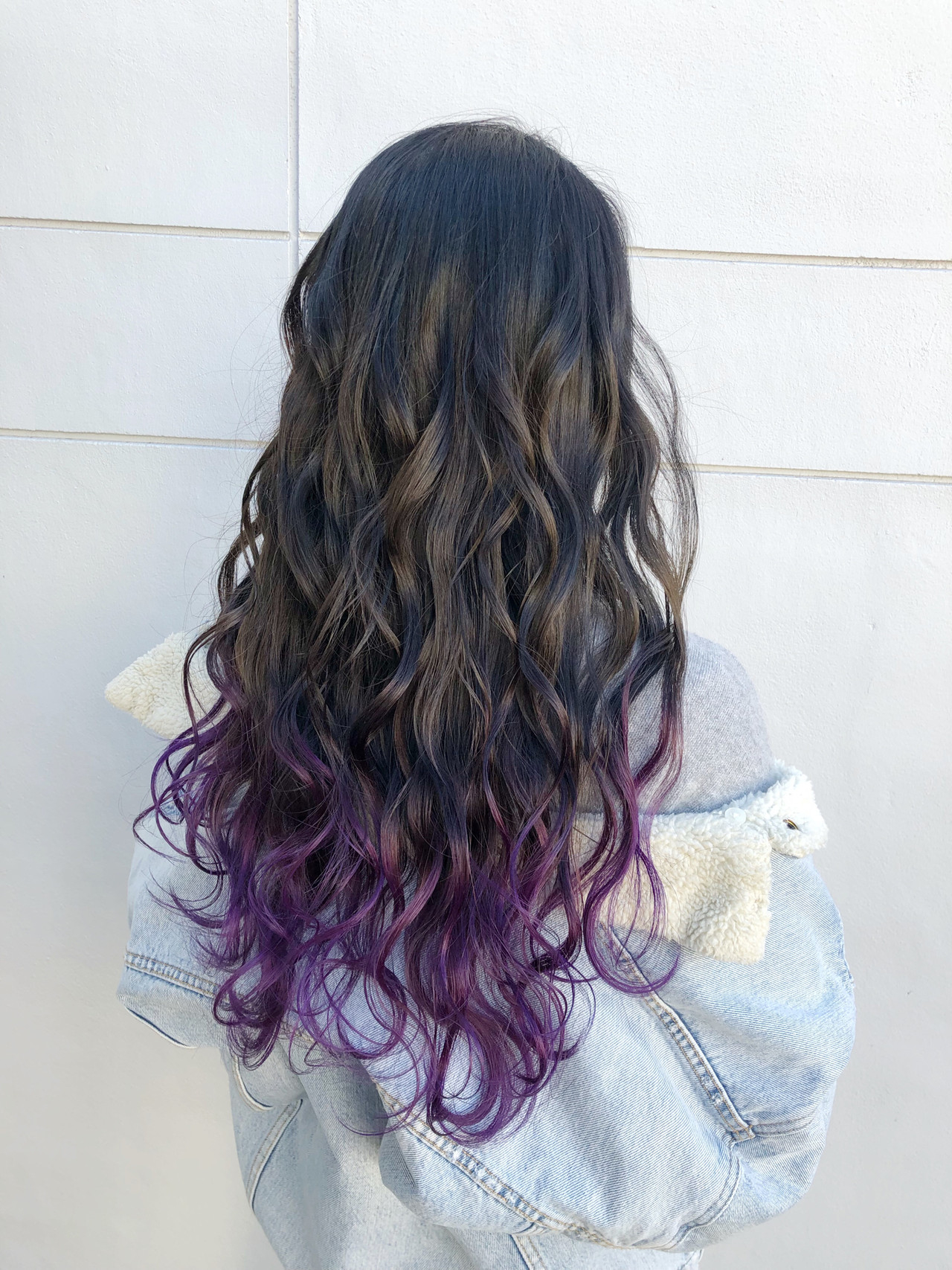 紫カラーで大人っぽく