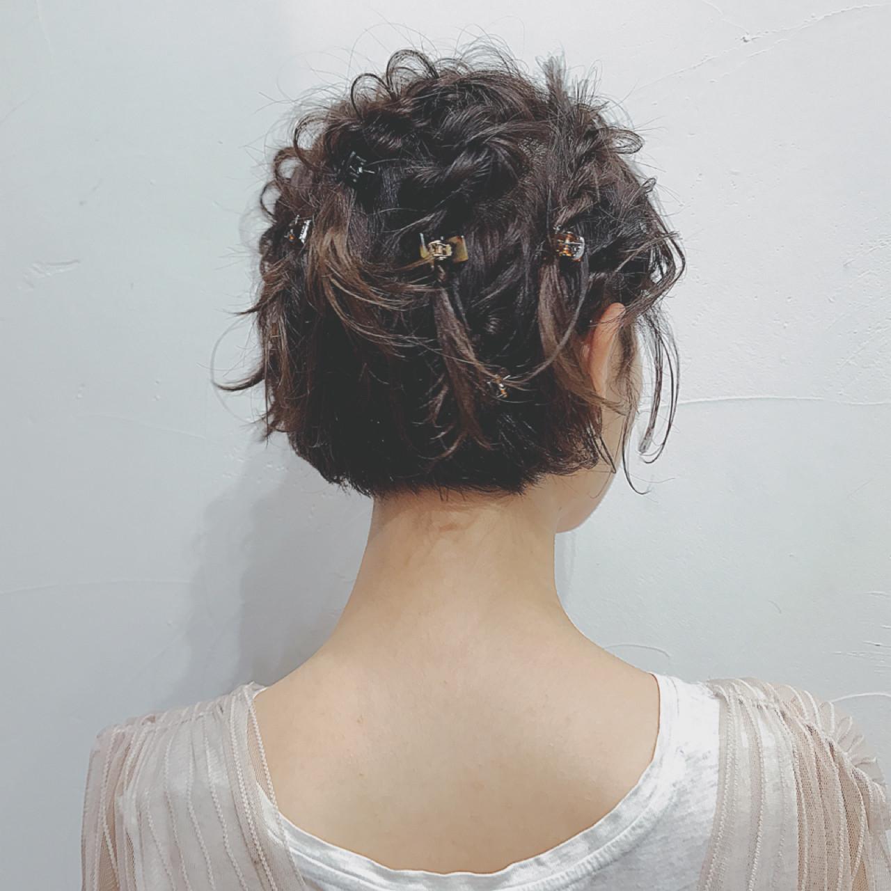 髪の短い方は小さめワニクリップ