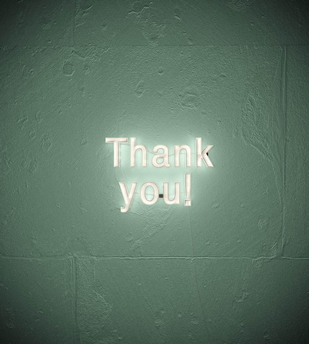 ありがとうと感謝を書く