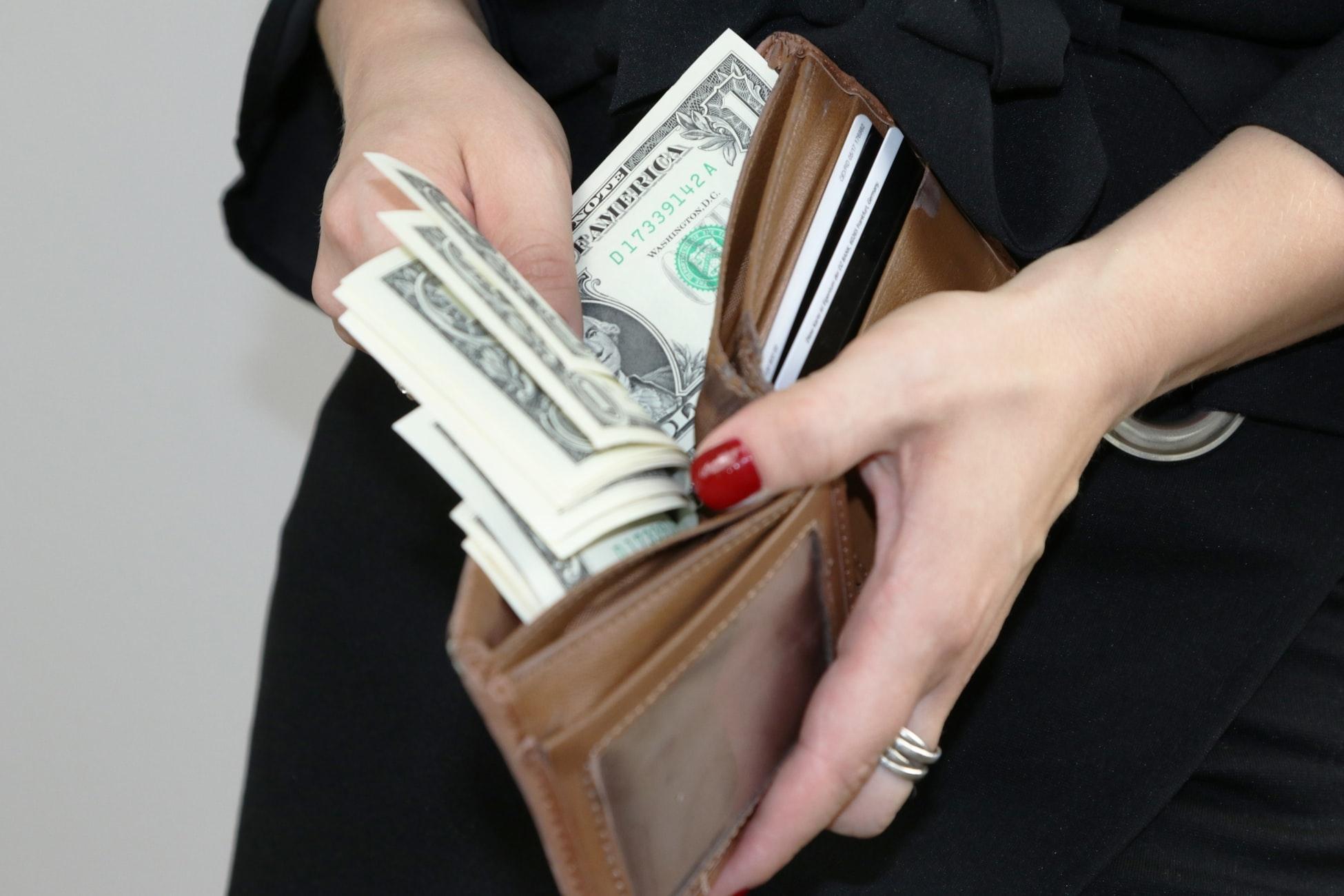 長財布の人はミニ財布に変えてみる?