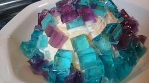 紫陽花ゼリーの簡単なケーキ♪