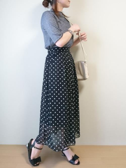 低身長でも引きずらないロングスカート♡