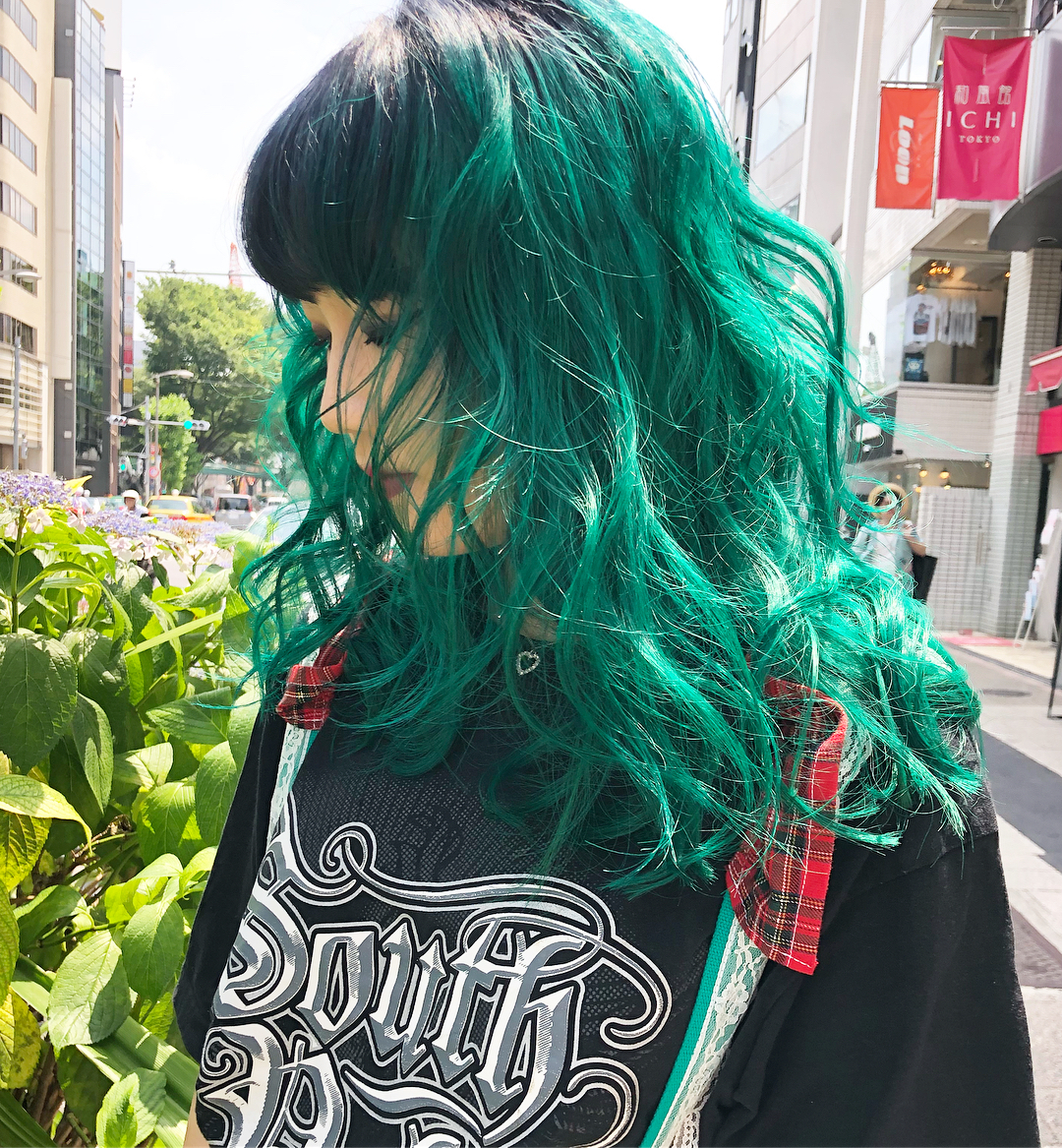 前髪とトップだけを残してグリーンをオン