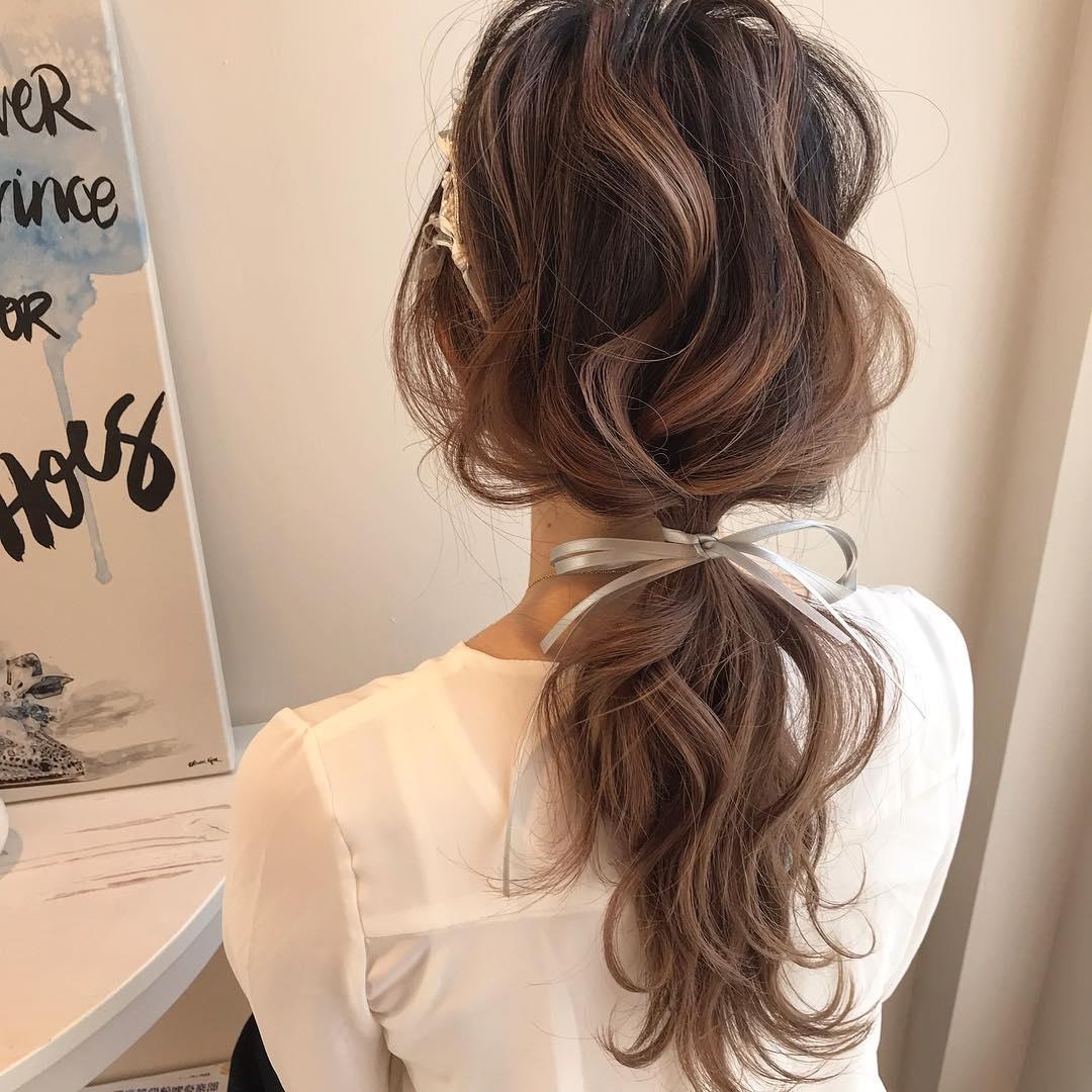髪を結んで、シャキッとする