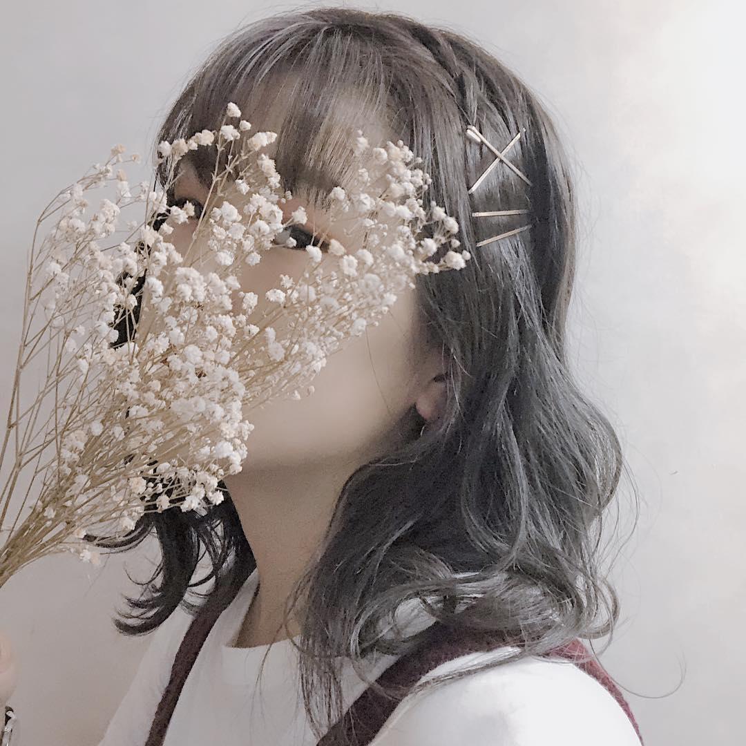 ♡:暗髪ミディアム