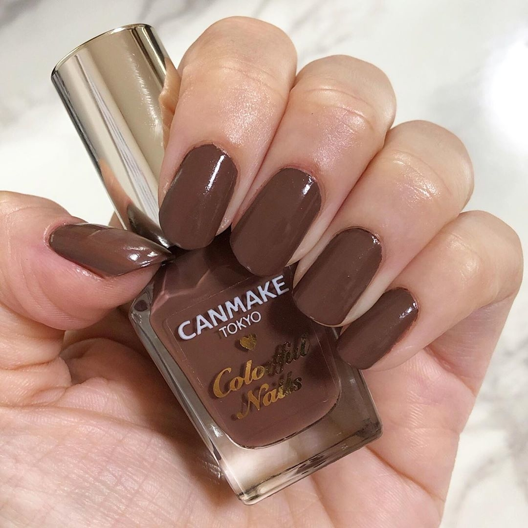 ①CANMAKE/カラフルネイルズ N15 チョコレートシロップ
